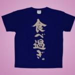 筆文字キッズTシャツ 半袖 ネイビー 抜染プリント(1)