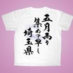 筆文字Tシャツ 半袖白(27)